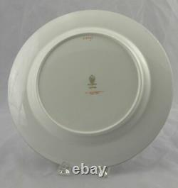 10 Antique Wedgwood Blue & Gold Greek Key Dinner Plates WH Plummer 5th Ave NYC