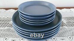 (10) Dansk Lindestone Sky Blue Dinner & Salad Plates