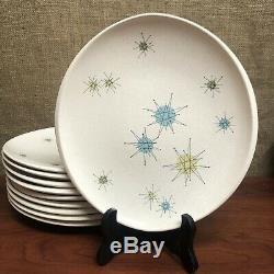 10 Franciscan Mid-Century Modern STARBURST Dinner Plates