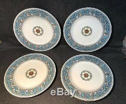 11 Eleven Wedgwood FLORENTINE TURQUOISE 10 3/4 Dinner Plates mint
