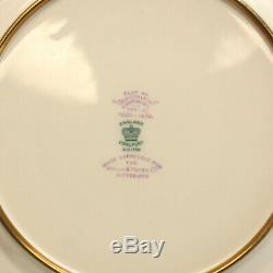 12 Coalport Hand Painted Porcelain Fruit Dinner / Cabinet Plates, circa 1900