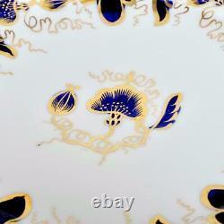 (12) Copelands Grosvenor For Tiffany Culross Cobalt Blue Dinner Plates, 10.5