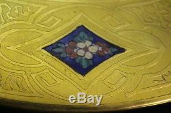 12 Gold Encrusted Blue Enamel Porcelain THOMAS BAVARIA 11 Dinner Service Plates