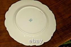 12 Lenox Dinner Plates Blue/Cream & Gold Scalloped Edge Porcelain 1881/P360F