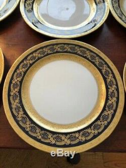 12 Rosenthal Cobalt Blue Gold Plates 5448 Ovington Bros