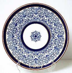 12 Royal Worcester Blue Lily 9624 Floral Dinner Cabinet Plate Plates