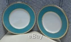 12 Wedgwood Ulander Powder Turquoise W1507 Service Plates Dinner 10 3/4 JW