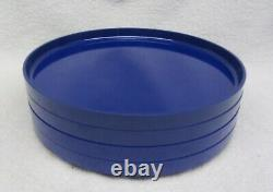 12 pc Heller by Massimo Vignelli design BLUE DINNER PLATES BOWLS MUGS Melamine