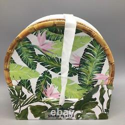 12pc Tommy Bahama Melamine Dinner Salad Plate Bowl Bird of Paradise Palm Bamboo