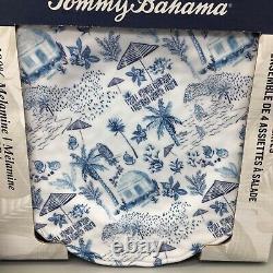 12pc Tommy Bahama Melamine Dinner Salad Plate Bowl Set Hawaiian Island Tiki Hut