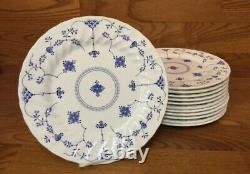 14 Myott FINLANDIA Blue & White 10 Dinner Plates Please read