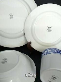 16 Pc Spode Delamere Blue Dinnerware Set Dinner & Salad Plates, Bowl, Mug Nice