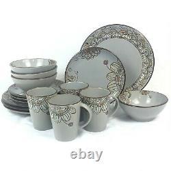 16 Piece Set Threshold Vermillion Dinnerware Dinner Salad Plate Bowl Mug