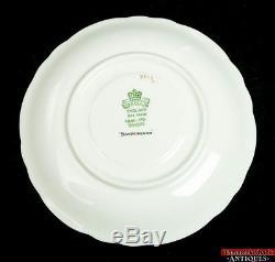 18 pc Aynsley China Set Scalloped Buckingham Blue & Gold Dinner Plate Soup Bowl