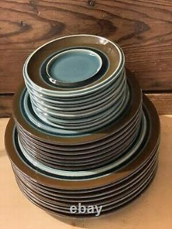 19 Piece Lot Arabia Of Finland Meri Blue 7 Dinner 6 Salad 6 Saucers