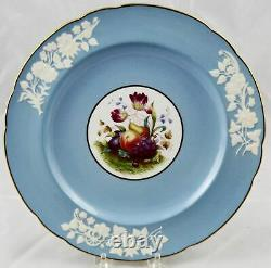 2 Antique Spode Copeland's China Fruit Decorated Dinner Plate 10-3/4 England