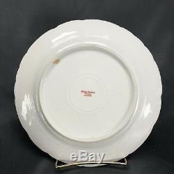 2 HP Signed Haviland Limoges Sevres Blue & Gold 9 1/4 Game Bird Dinner Plates