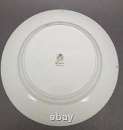 2 x Aynsley GEORGIAN COBALT SMOOTH 10 5/8 Dinner Plate Bone China 7348 READ #2