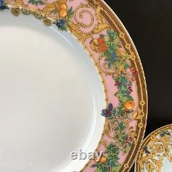 3 Pc Rosenthal Versace Butterfly Garden Dinner Salad & Bread Plates EUC 1980s