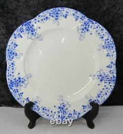 (3) Vintage Shelley Bone China Dainty Blue 10 3/4 Dinner Plates