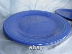 3 pcs Fiestaware Sapphire Blue Dinner Plate Salad Plate Soup Bowl 1996