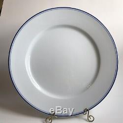 4 APILCO France TRES GRANDE BLUE 12 Porcelain Charger Dinner Plates Cobalt