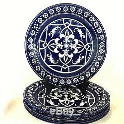 4 Catalina Medallion Blue 11 Dinner Plates Moorish Revival Styling Target Home