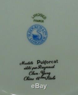 4 RARE Emperors PUIFORCAT Raynaud Limoges 8 3/4 Dinner Plates FRANCE MINT