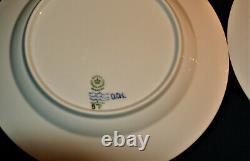 (4) VINTAGE ROYAL COPENHAGEN #571 DINNER PLATES 10 BLUE FLUTED HALF LACE-1stQ