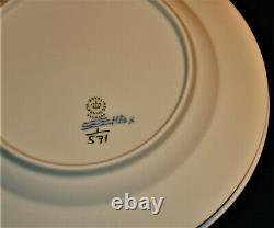 (4) Vintage Royal Copenhagen #571 Dinner Plates 10 Blue Fluted Half Lace-1q-ln