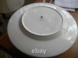 4 Wedgwood Florentine Turquoise Bone China Dinner Plates W2714