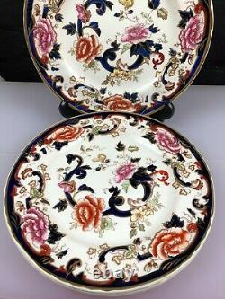 4 x Mason's Mandalay Blue Dinner Plates 26.5 cm (10) Wide Set (A)