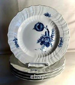 5 Royal Copenhagen Blue Flowers Scalloped 10 Dinner Plates