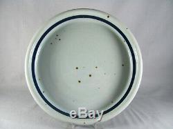 6 Dansk BLT Bluestone Dinner Plates, Niels Refsgaard blue, vtg