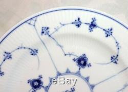 6 Dinner Plates Royal Copenhagen blue cannele 175 1889-1922