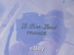 6 Rare Le Poet- Lavol France Provence Blue 12 Dinner/Charger Plates