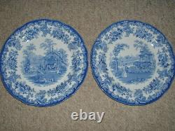 6 Spode Blue Collection Zoological Animal Plates 10 1/2