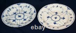 (6) Vintage Royal Copenhagen #571 Blue Fluted Half Lace 10 Dinner Plates 1q-ln