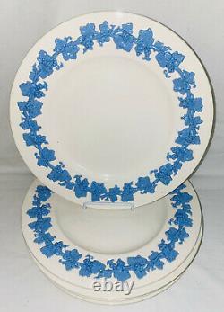 6 Wedgwood QUEENSWARE LAVENDER BLUE ON CREAM 10 3/4 DINNER PLATES
