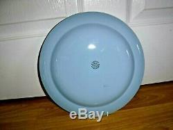 6 Wedgwood QueensWare Etruria & Barlaston White On Blue 10 Dinner Plates