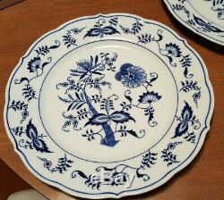 8 BLUE DANUBE Rectangle Box Japan Mark 10 1/4 DINNER PLATES SET Lot