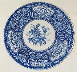 8 Spode BLUE ROOM GEORGIAN 10 1/4 DINNER PLATES With ORIGINAL BAG4 SCENES