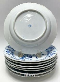 9 Meissen Germany Porcelain Dinner Plates in Blue Onion