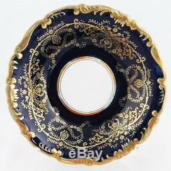 ANNIVERSARY COBALT Coalport England Dinner Plate 10.5 diameter NEW NEVER USED