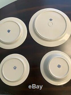 ARABIA FINLAND BLUE ANEMONE POTTERY 6 Sets of Dinner Plates and Bowls
