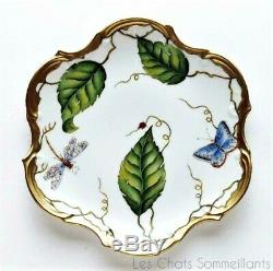 Anna Weatherley, Ivy Garland Embossed Porcelain Flat 8 Dessert Plate(s), New