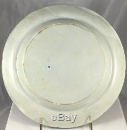 Antique 18th C Swedish Sweden Rorstrand Blue Transfer Ware Dinner Plate Set 8