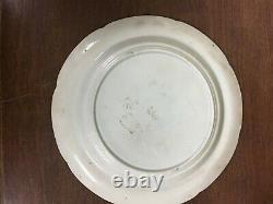 Antique 9 Blue & White Transfer Ware Plate Dromedary Pattern Pountney & Goldney