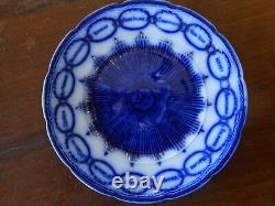 Antique Flow Blue Plate Martha Washington Chain of States apx 9 our union glory
