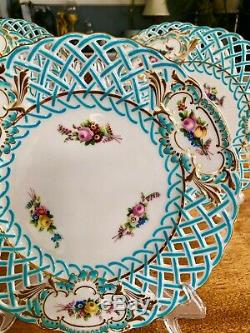 Antique Mintons Reticulated Plate Blue #1